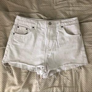 Topshop Moro Mom White Jean Shorts Size 8